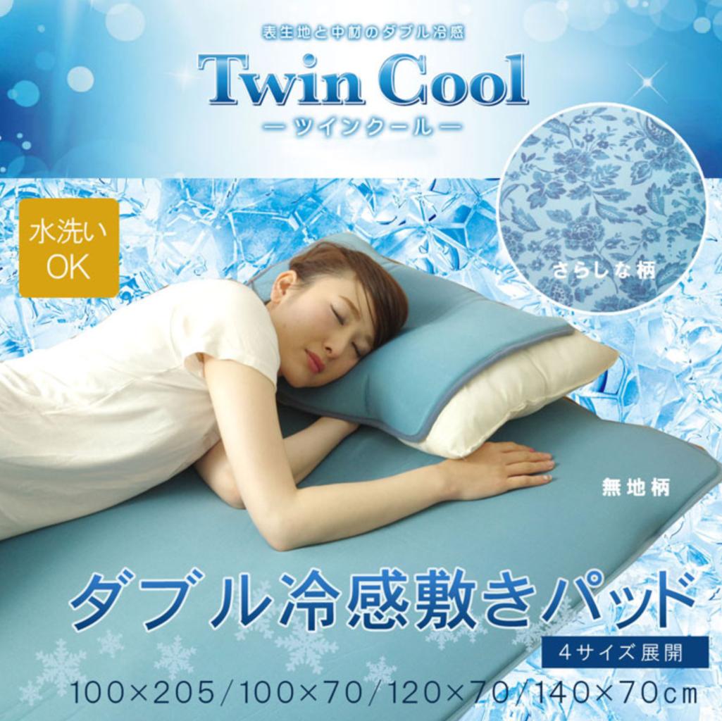 イケヒコ 洗える ツインクール枕パッド  40×50cmのメイン画像