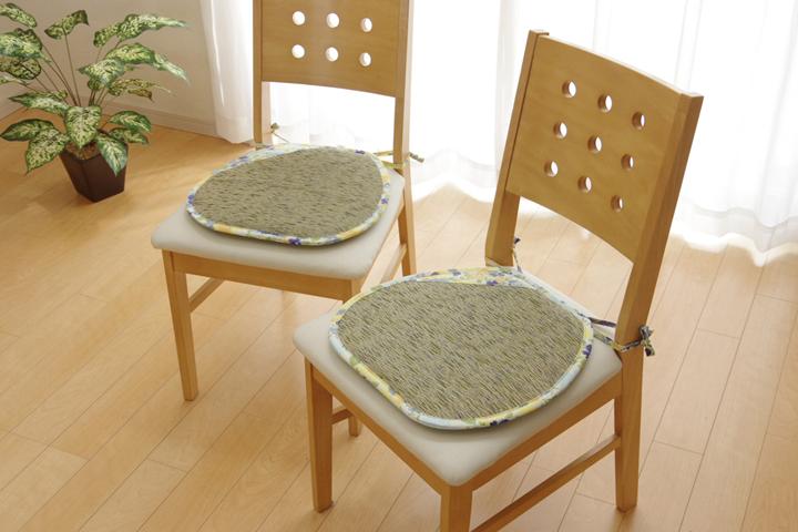 イケヒコ い草シートクッション 馬蹄 フォンターナブルーのメイン画像
