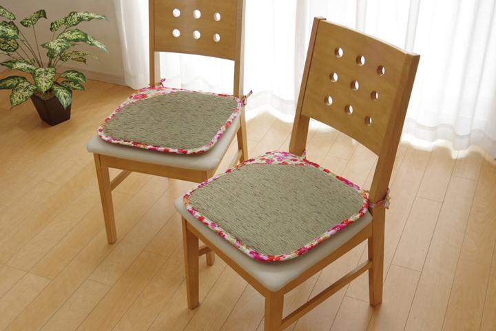 イケヒコ い草シートクッション フォンターナピンク 2枚組のメイン画像